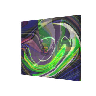 Exploding Universe Abstract IV Wrapped Canvas