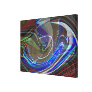 Exploding Universe Abstract Wrapped Canvas Canvas Print