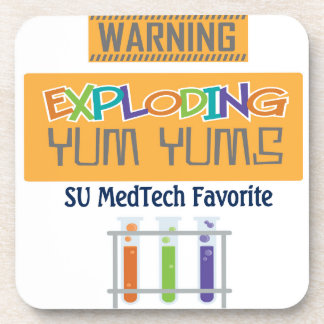exploding yums drink coaster