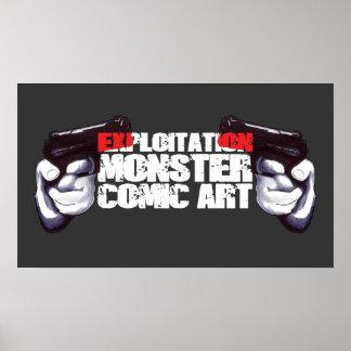 EXPLOITATION MONSTER COMIC ART POSTERS