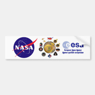 ¡Exploración de Marte en 50! Etiqueta De Parachoque