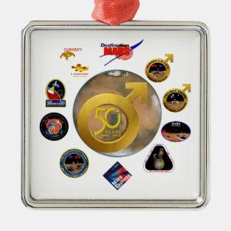 ¡Exploración de Marte en 50! Ornamento Para Reyes Magos