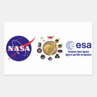 ¡Exploración de Marte en 50! Pegatina Rectangular