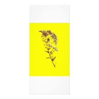 Exploración de un fondo amarillo del wildflower w  tarjetas publicitarias