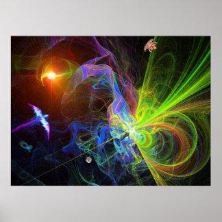 Exploración del nacimiento de un universo -2007 de póster