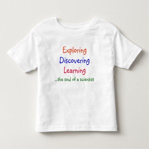 Exploración, descubrimiento, aprendiendo,…. remeras