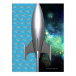Exploración espacial futurista postales
