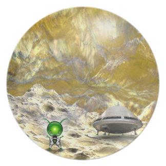 Exploración espacial platos