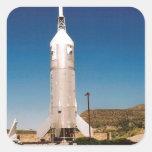 Exploración espacial Rocket Pegatina Cuadradas