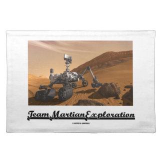 Exploración marciana del equipo (curiosidad Rover Mantel