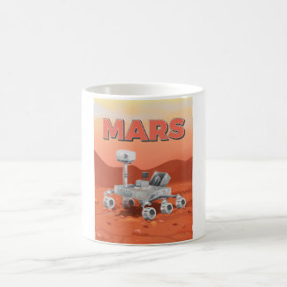 Exploración Rover de Marte Taza Básica Blanca