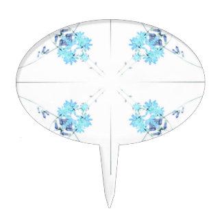 Exploración teñida azul 4 del wildflower para decoración para tarta