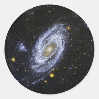 Explorador de la evolución de la galaxia de la etiquetas redondas