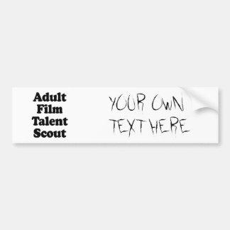 Explorador de talento adulto de la película etiqueta de parachoque