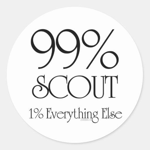 Explorador del 99% pegatina redonda