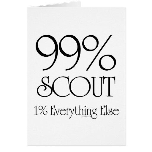 Explorador del 99% tarjeta de felicitación