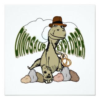 """Explorador del dinosaurio de Rex del Tyrannosaurus Invitación 5.25"""" X 5.25"""""""