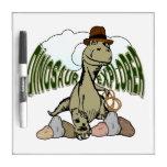 Explorador del dinosaurio de Rex del Tyrannosaurus Tablero Blanco