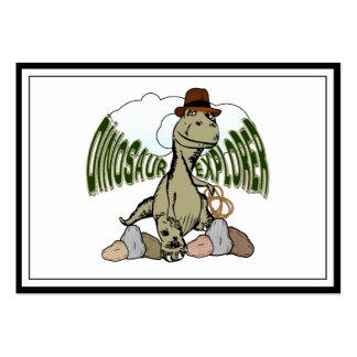 Explorador del dinosaurio de Rex del Tyrannosaurus Tarjetas De Visita Grandes