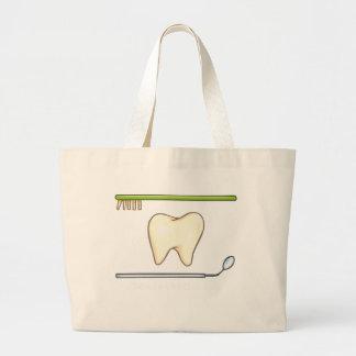 Explorador dental apacible del espejo del diente bolsa tela grande