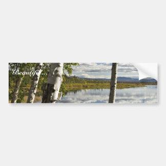 Explorador en el lago Kanuti Pegatina De Parachoque
