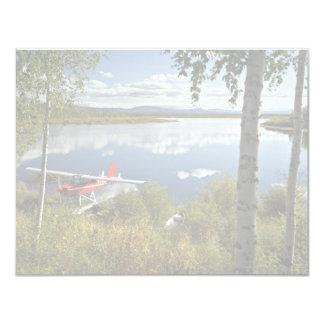 Explorador en el lago Kanuti Invitación 10,8 X 13,9 Cm