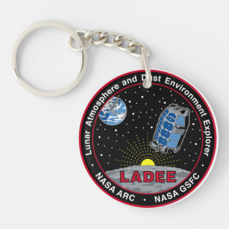 Explorador lunar LADEE del ambiente de la Llavero Redondo Acrílico A Doble Cara