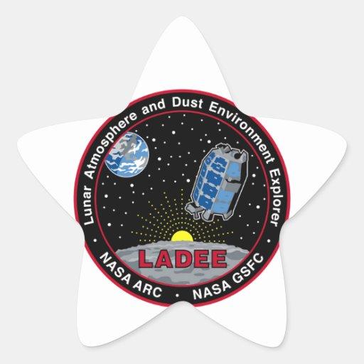 Explorador lunar LADEE del ambiente de la Pegatina En Forma De Estrella