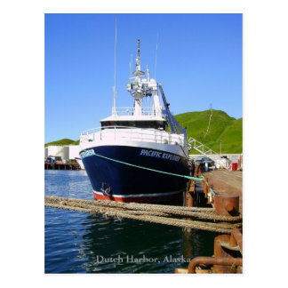 Explorador pacífico, pescando el barco rastreador postales