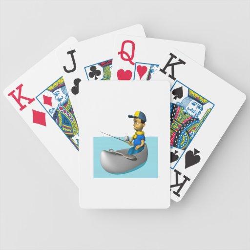 Explorador que pesca 2 baraja de cartas