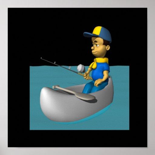 Explorador que pesca 2 impresiones