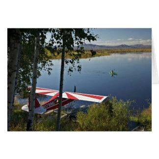 Explorador y canoa del lago Kanuti Tarjetas
