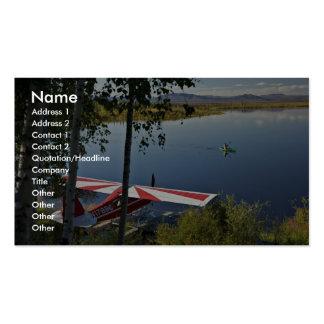 Explorador y canoa del lago Kanuti Tarjeta De Visita