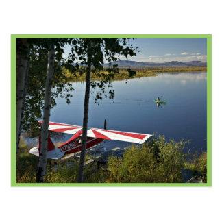 Explorador y canoa del lago Kanuti Postales