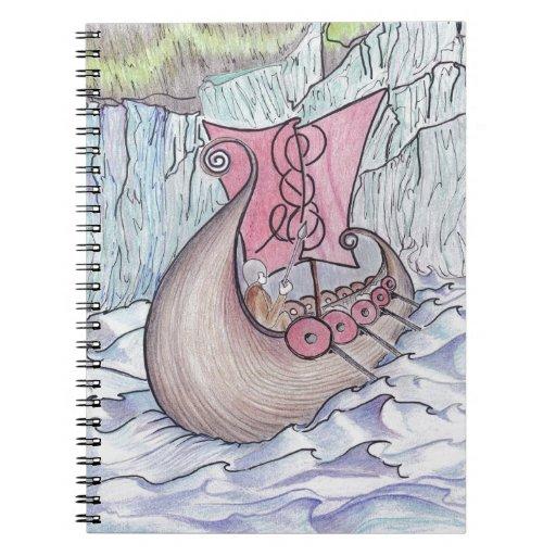 Exploradores de Viking que se mueven sobre un fior Libros De Apuntes Con Espiral