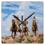 Exploradores del oeste/reloj de pared salvajes del