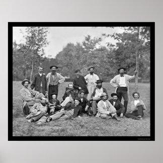 Exploradores y guías del ejército del Potomac 1864 Póster