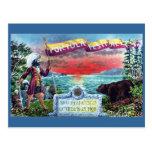 Exploradores y oso del festival de Portola en el S Postales