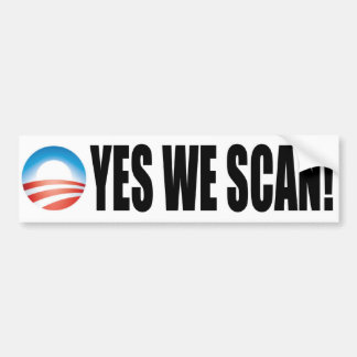 Exploramos sí - el NSA anti de Obama Etiqueta De Parachoque