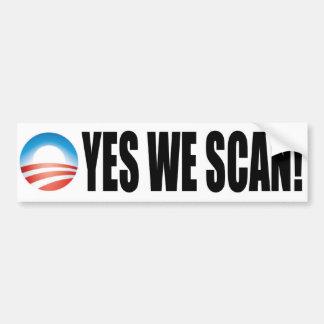 Exploramos sí - el NSA anti de Obama Pegatina Para Auto