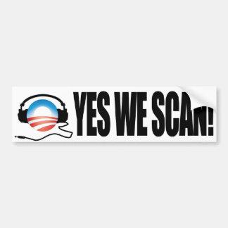 Exploramos sí - el NSA anti de Obama Snooping Pegatina Para Auto
