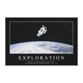 Exploration: Inspirational Quote 1 Canvas Print