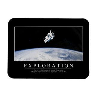 Exploration: Inspirational Quote 1 Magnet