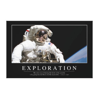 Exploration: Inspirational Quote 2 Canvas Print