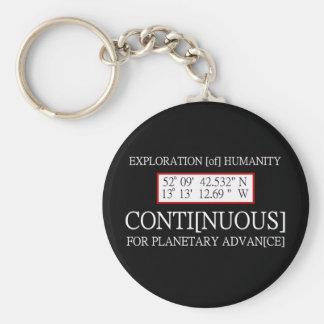 Exploration [of] Humanity Rendlesham Binary Code Keychain