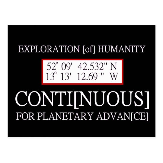 Exploration [of] Humanity Rendlesham Binary Code Postcard