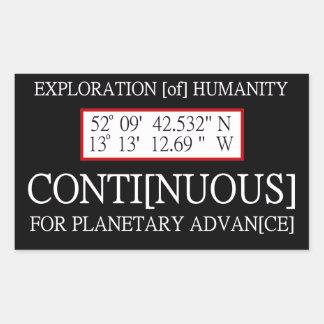Exploration [of] Humanity Rendlesham Binary Code Rectangular Sticker