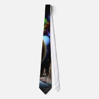 Exploration Of Space Fractal Art Neck Tie