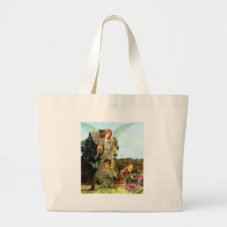 Explore - A Guardian Angel Watches Large Tote Bag