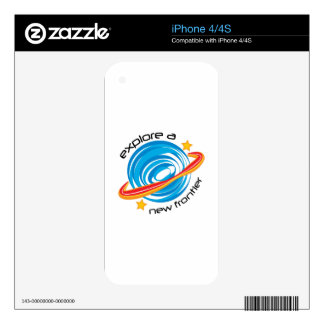 Explore A New Fronter Decals For The iPhone 4
